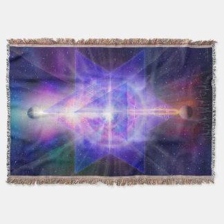 V055 Merkaba Space Throw Blanket