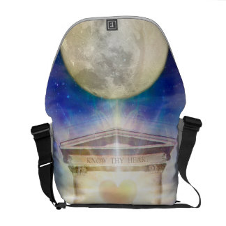 V058 Moon Temple Heart Courier Bag