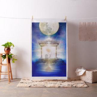 V058 Moon Temple Heart Fabric