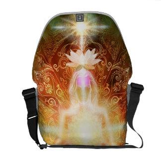 V059 Lotus Meditator Courier Bag
