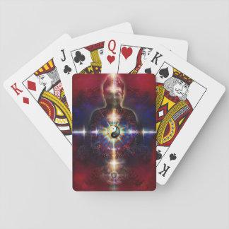 V064 BaGua Buddha Dragon Playing Cards