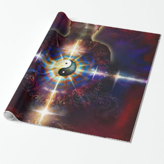 V064 BaGua Buddha Dragon Wrapping Paper