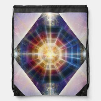 V065 Diamond BaGua Drawstring Bag
