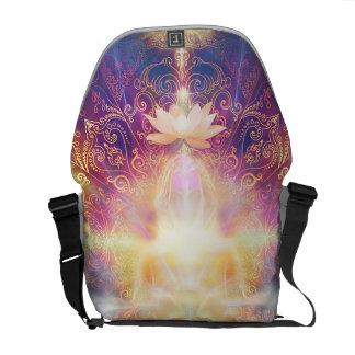 V073 Orange Sunshine Meditator Commuter Bag