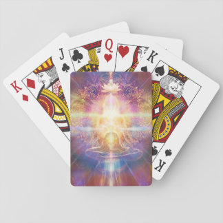 V073 Orange Sunshine Meditator Playing Cards