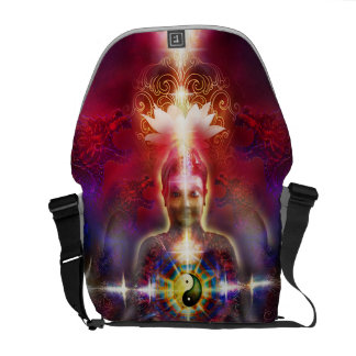 V074 Awake Buddha Dragons Commuter Bag