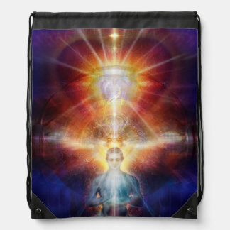 V077 Light in Shadow 40 Drawstring Bag