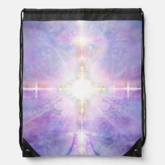 V081 Portal to White Light Drawstring Bag