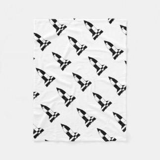 V2 German World War 2 Rocket Cartoon Fleece Blanket