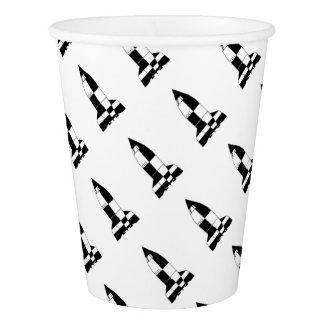 V2 German World War 2 Rocket Cartoon Paper Cup