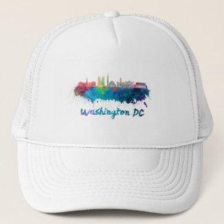 V2 Washington DC skyline in watercolor Trucker Hat