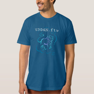 v3g4n. ftw ~ Vegan For The Win Organic Cotton T T-Shirt