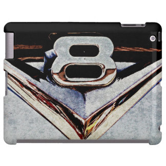 V8 Chrome Emblem Gray and Black