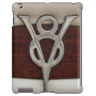 V8 Chrome Emblem Leather and Wood