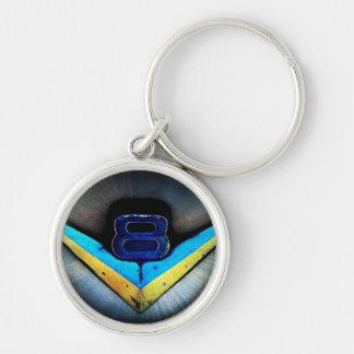 V8 Emblem Art Key Ring