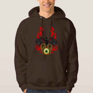 V8 Piston Heads Flying Eye Hoodie