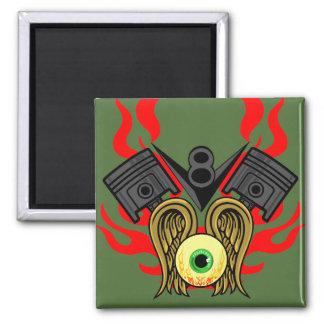 V8 Piston Heads Flying Eye Magnets