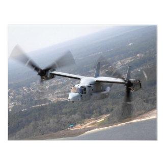 V-22 Osprey 11 Cm X 14 Cm Invitation Card