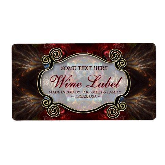 v.4 Mediaeval Fractals Gold Black & Red Wine