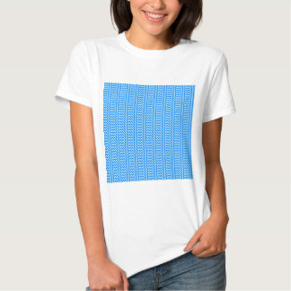 V and H Simple Zigzag - Blizzard Blue and Azure T-shirt