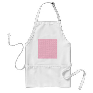 V and H Zigzag - Pale Pink and Carnation Pink Adult Apron