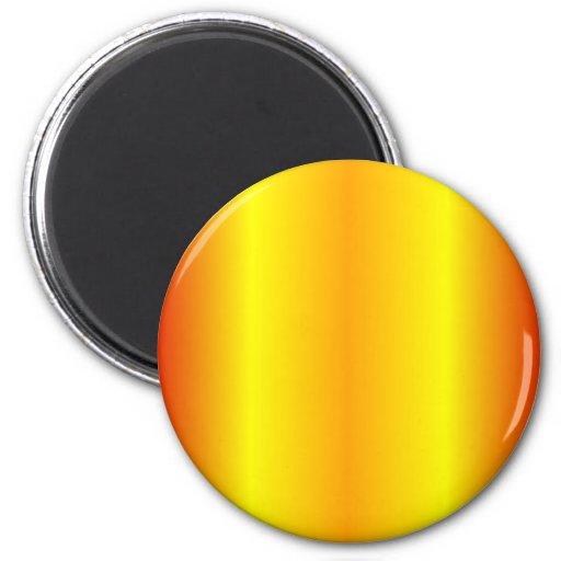 V Bi-Linear Gradient - Red, Yellow, Orange Fridge Magnet