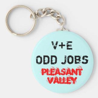 V+E Odd Jobs Basic Round Button Key Ring