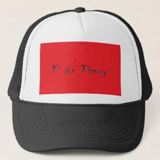 v for victory trucker hat