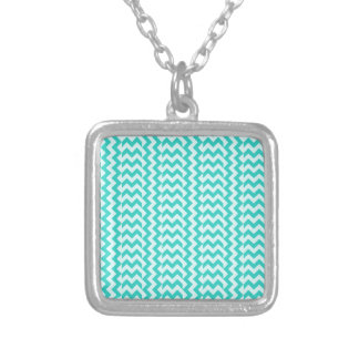 V&H Simple Wide Zigzag - Celeste and Turquoise Necklaces