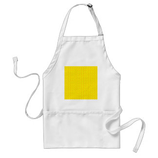 V&H Simple Wide Zigzag-Yellow and Tangerine Yellow Adult Apron