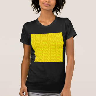 V&H Simple Wide Zigzag-Yellow and Tangerine Yellow T Shirts