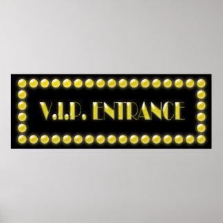 V.I.P. Entrance Sign Hollywood Lights