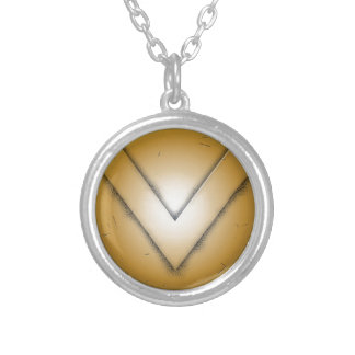 V initial letter personalised necklace
