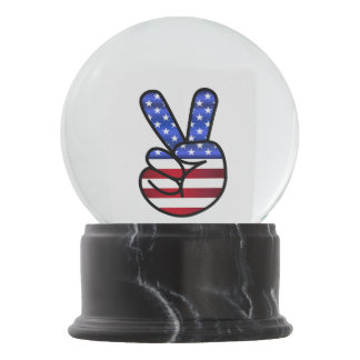 V is for Victory Snow Globe