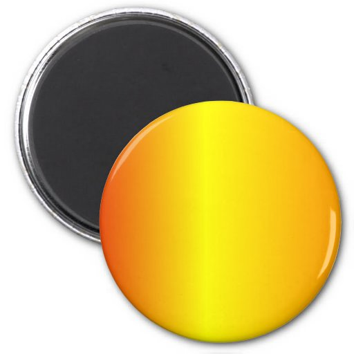 V Linear Gradient - Red, Yellow, Orange Refrigerator Magnet
