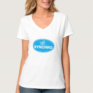 V-NECK T-Shirt Synchronized Swimming - Icon