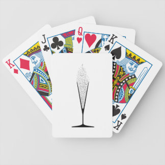 V Shaped Glass Bicycle Playing Cards