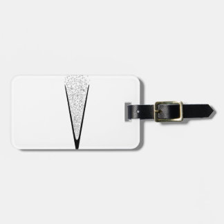 V Shaped Glass Luggage Tag