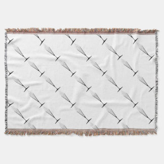 V Shaped Glass Throw Blanket