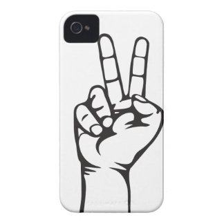 V-sign hand iPhone 4 covers