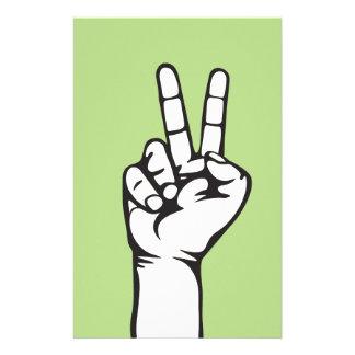 V-sign hand stationery