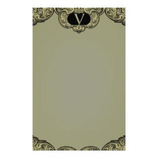V - The Falck Alphabet (Golden) Personalized Stationery