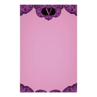 V - The Falck Alphabet (Pink) Customised Stationery