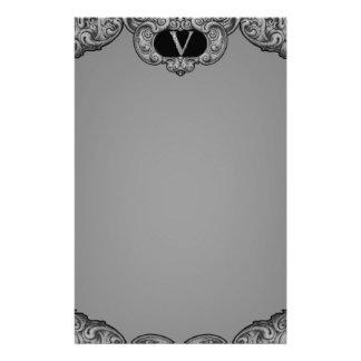 V - The Falck Alphabet (Silvery) Customized Stationery
