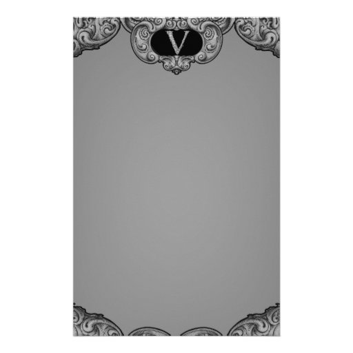 V - The Falck Alphabet (Silvery) Stationery Paper