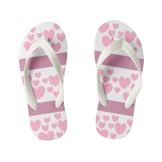 va-ca 4 kids collection pink heart flip flops
