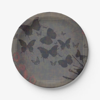 Vacant Butterfly Small Paper Plate