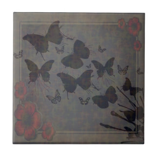 Vacant Butterfly Small Photo Tile