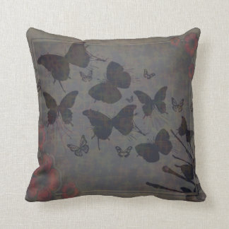 Vacant Butterfly Small Poly Throw Pillow