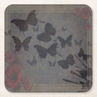 Vacant Butterfly Square Coaster